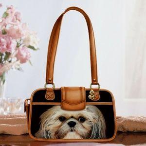 Shih-tzu Faithful Friend Handbag NWT & COA